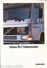 Volvo FL7 Prospekt 5/90 brochure prospectus broschyr brosjyre Lkw 1990 Lastwagen