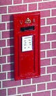 1:12 Scale Dolls House Miniature Red Wall Mounting Victorian Post - Pillar Box