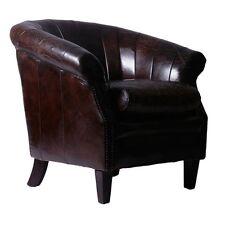 Cóctel sillón coronel II de cuero vintage cigar marrón oscuro cuero sillón butaca