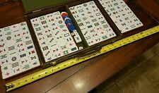 vintage rare chinese game 145 pc set  Ivory and blue tiles 4 dice and play coins