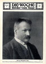 Prof. Dr. Emil Abderhalden Halle Physiolo. Institut in Berlin Bilddokument 1914