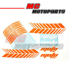 "Fluorescent Orange 17"" Wheel Rim Stickers Decal GP2 Fit KTM 990 SuperDuke Motor"