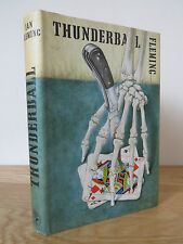 THUNDERBALL by Ian Fleming 1st Edition 1961 Dust Jacket Jonathan Cape JAMES BOND
