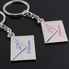 2pcs You Gadgets Fashion Jewelry Envelope Key Chain Keyring Couple Pendants