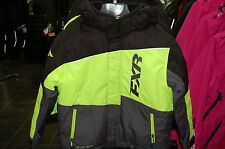 2016 FXR Youth SZ 12 snowmobile jacket with FAST flotation black / yellow WARM
