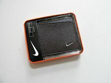 Nike Golf Men's Brown Bifold Passcase Pebble Grain Leather Wallet With Nike Logo