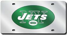 New York Jets Silver Laser Cut License Plate [NEW] NY NFL Car Auto Plate CDG