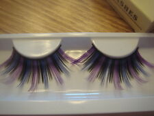 Purple Black and Blue Super Long False Eyelashes (J-140)