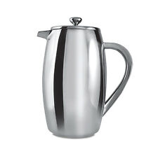 Grunwerg 6 Cup Bellied Double Wall Plunger Coffee Cafetiere Stainless Steel