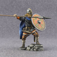 Viking with spear 1/32 metal figurine Tin Metal Toy Soldier 54mm Hand Painted