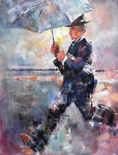 "NEW ORIGINAL SERA KNIGHT S.W.A ""Singing in the rain"" Musical Dance PAINTING"