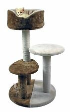 "30"" 3-Tier Cat Tree House Condo With Cradle Perches Scratch Post and Bed"