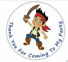 Personalised Jake And The Neverland Pirates Jake Party Bag Sweet Cone Stickers