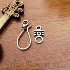 10pcs OT clasp Hook Charm Tibet silver diy jewelry Making Fit necklace 7565