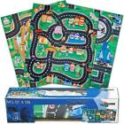 Car & Road Police Fire Or Construction Playmat Kids Boys Play Mat Childrens Gift
