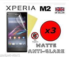 3x HQ MATTE ANTI GLARE SCREEN PROTECTOR COVER GUARD FILM FOR SONY XPERIA M2