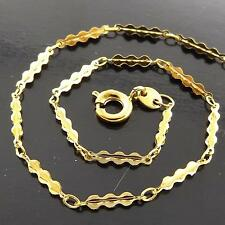 FSA141 GENUINE REAL 18K YELLOW GF GOLD SOLID FINE LADIES PENDANT NECKLACE CHAIN