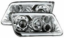 Volkswagen VW Bora 98-04 Chrome Halo Angel Eye Projector Front Headlights Lights