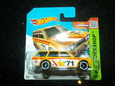 Hot wheels HW WORKSHOP 71 Datsun bluebird 510 wagon yellow 202/250 Short card #3
