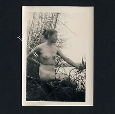 Nudism NUDE WOMAN AT THE LAKE / NACKTE FRAU AM SEE FKK * Vintage 50s Photo