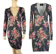 D&G DOLCE & GABBANA SWEATER DRESS ROSE GARDEN PRINT 100% WOOL CARDIGAN sz 40