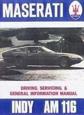 Maserati Indy Car Shop manual Catalogue Book paper