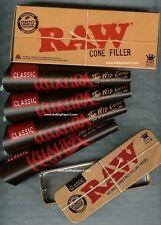 """12 RAW KING SIZE """"WIZ CONE"""" KHALIFA Prerolled rolling paper+CONE FILLER+CADDY"""