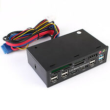 "USB 3.0 5.25"" LCD Media Dashboard Temp Front Panel Multi Card Reader SATA eSATA"