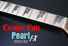 Shark Tooth BLACK PEARL Vinyl Inlay Stickers for Ibanez Style Maple Neck GUITAR