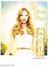 PUBLICITE ADVERTISING 065  2013  LOLITA LEMPICKA  le nouveau parfum  ELLE L'AIME