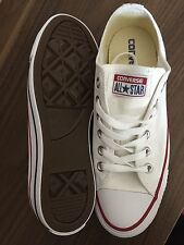 UK seller new white converse all star's trainers unisex uk size 7 eur 40