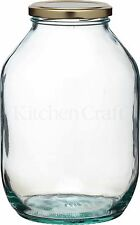 Traditional Large Half Gallon Twist Lid Glass Preserving Pickling Storage Jar