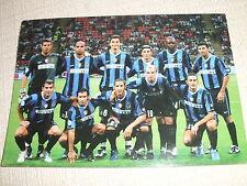 CARTOLINA CALCIO SQUADRA INTER VS. ROMA 4-3 FINALE SUPERCOPPA 2006 CON ANNULLO