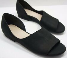 Naya Eleni Black Leather Dress Sandals Womens Size 7.5  EXCELLENT  $120 Retail