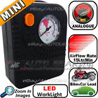 NEW 12v Mini Plug in, Clip on Compact Tyre Air LED Pump Compressor Inflator Pump