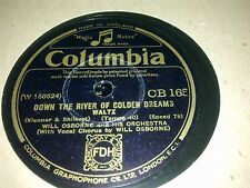 WILL OSBOURNE AND HIS ORCHESTRA DOWN THE RIVER OF GOLDEN DREAMS COLUMBIA CB165