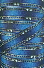 "5 Yards 1"" BLUE DENIM JEANS WESTERN COWBOY MINION INSPIRED GROSGRAIN RIBBON"