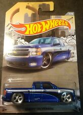 Hot Wheels CUSTOM Super Treasure Hunt Chevy Silverado with Real Riders New!