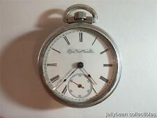 Elgin National Watch Co Pocket Watch  ~ Open Face~  Silver Tone ~ WHEELER