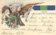 C3198) WW1 244 REGGIMENTO FANTERIA BRIGATA COSENZA VG 10/1/1919 CON P.M.