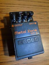 BOSS MT-2 METAL ZONE DISTORTION PEDAL TESTED WORKS ELECTRIC GUITAR EFFECTS