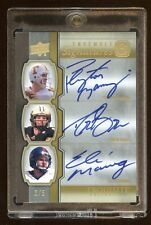 2010 EXQUISITE TRIPLE SB CHAMPS AUTO # 3/5 PEYTON MANNING-DREW BREES-ELI MANNING