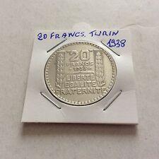 Pièce de 20 F en argent France Type Turin 1938 SUP