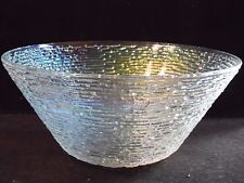 "Iridescent Glass Soreno Aurora Anchor Hocking Large Chip Serving Bowl 11 1/2"" D"