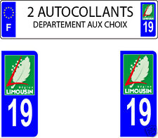 LOT 2 STICKERS AUTOCOLLANT PLAQUE IMMATRICULATION LIMOUSIN DEPAR AUX CHOIX