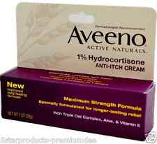 NEW AVEENO ACTIVE NATURALS 1% HYDROCORTISONE ANTI-ITCH CREAM SKIN HEALTH BEAUTY