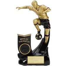 A1351 RESIN FOOTBALL TROPHY SIZE 16.5CM FREE ENGRAVING