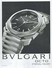 ▬► PUBLICITE ADVERTISING AD Montre watch BVLGARI BULGARI Octo