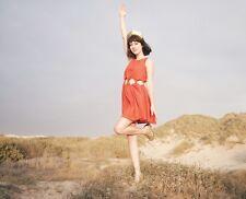 NEW Free People P.S. Samantha Pleet Cutout Sunshine Dunes Dress Size XS Orange