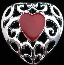 SILVER TONE CUPID  I LOVE YOU FRIENDSHIP VALENTINES DAY HEART PIN BROOCH PENDANT